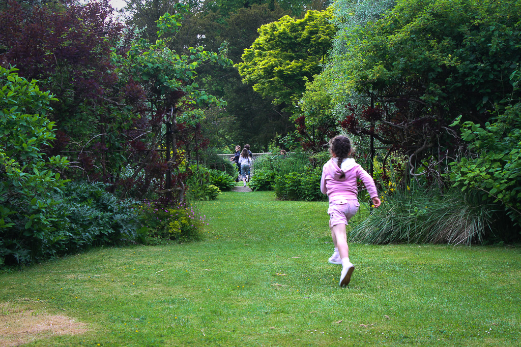 Running in the Gardens at Halecat House