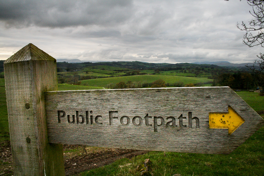 Public Footpath Sign Cumbria