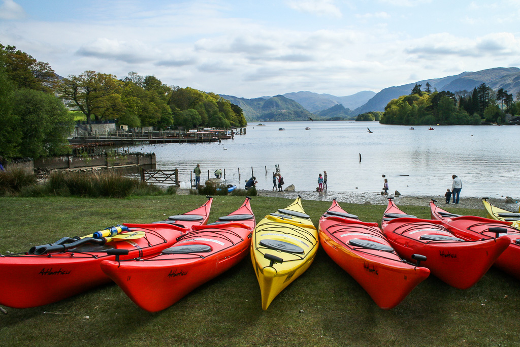 Sea Kayaks at Derwent Water during Keswick Mountain Festival Copyright Stuart Wickes